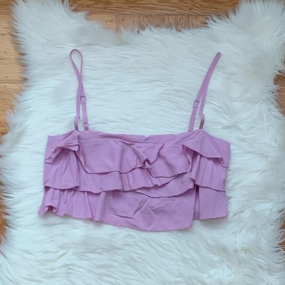 Tobi Tops - Lilac Tobi Ruffle Top
